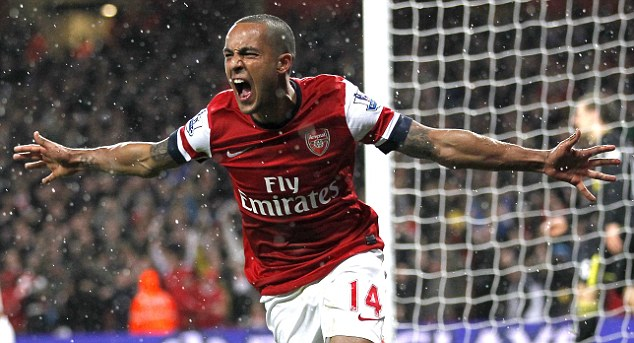 Arsenal's English striker Theo Walcott c