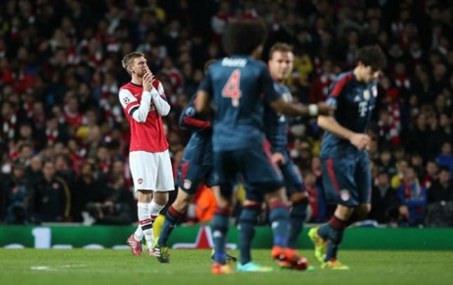 Soccer - UEFA Champions League - Round of 16 - Arsenal v Bayern Munich - Emirates Stadium